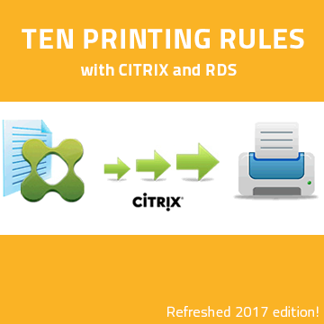 The ten printing rules with Citrix